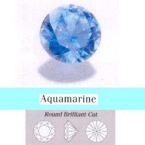 Akvamarinas,apvalus