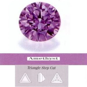 Cirkonis Amethyst,trikampis