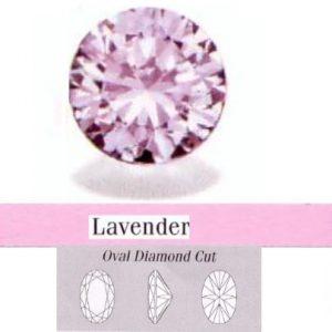 Cirkonis Lavender,ovalas