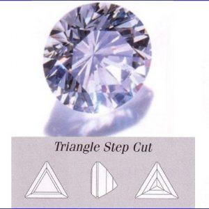 Cirkonis baltas,trikampis